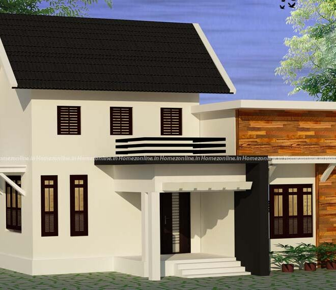 Small home design with attractive slope roofing
