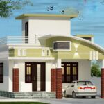 curved roof home with superb design