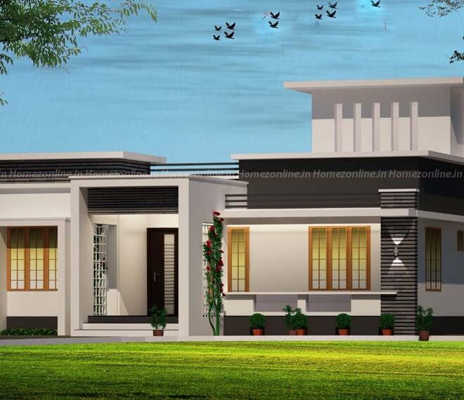 Modern simplex home design with 3 bedroom
