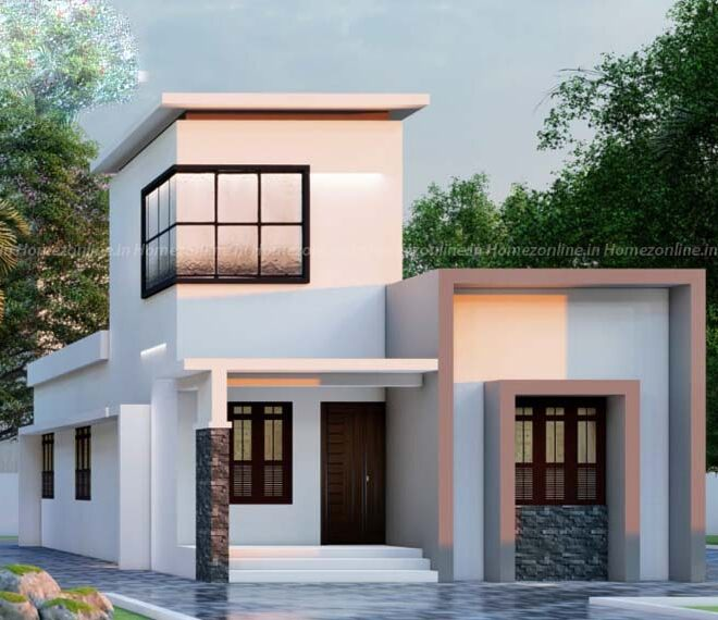 One level low cost home design