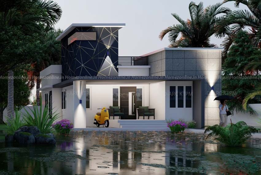 Simplex home design in an 1200 sq ft area