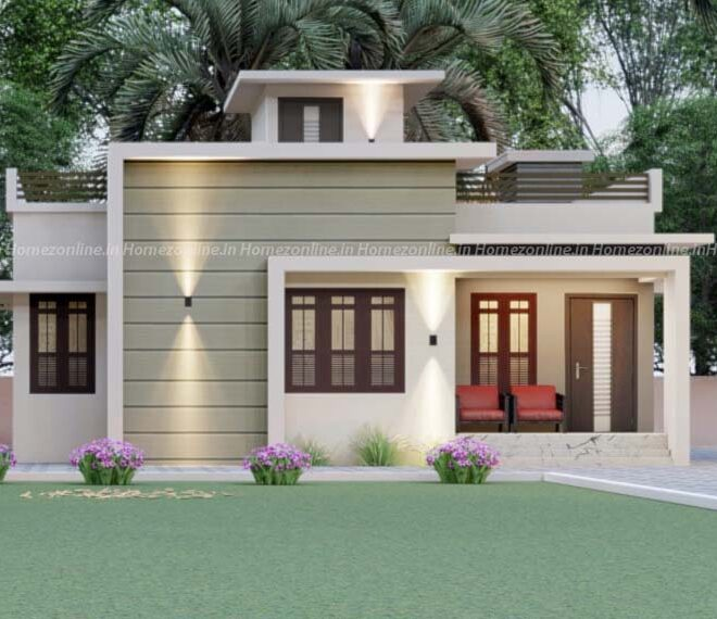 Single floor home design with simple exterior