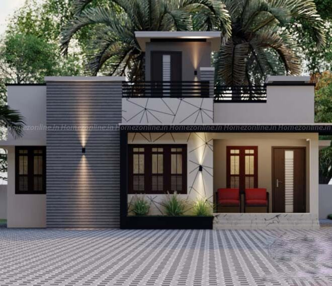 Single floor home with charming outlook