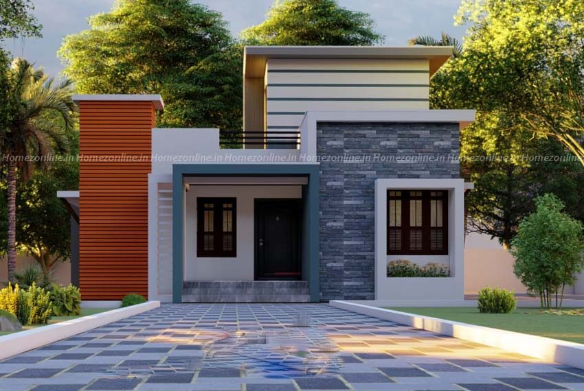 Small home design with bewitched exterior