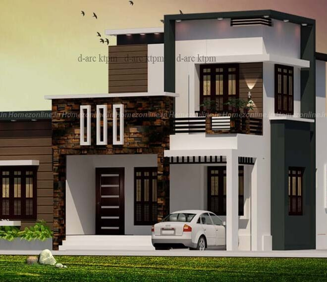 Trending box style home design with amazing look