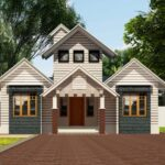 Colonial style small home design with dormer
