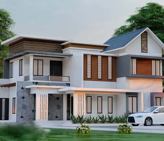 Duplex home with admirable exterior view