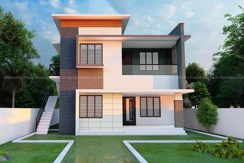 Small duplex home with delightful exterior