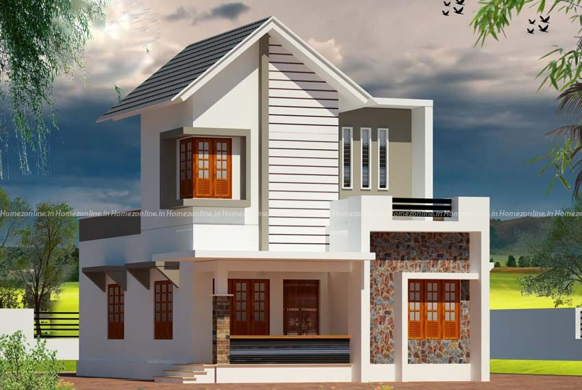 Well looking small duplex home design