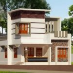 3 bhk small duplex home design in 1400 sq ft