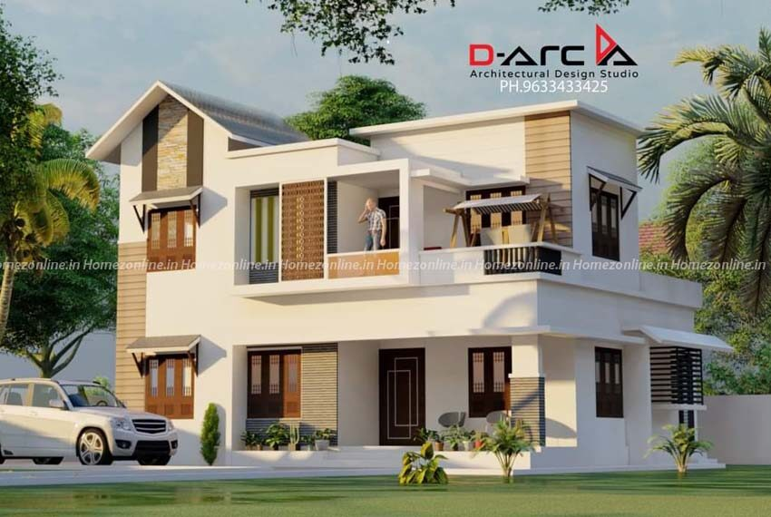 Contemporary double storey home with trending outer view