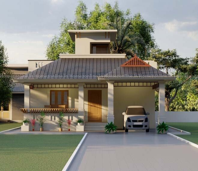 Simplex home design with appealing exterior