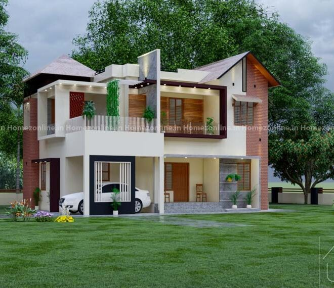 4 BHK duplex home with mind blowing exterior