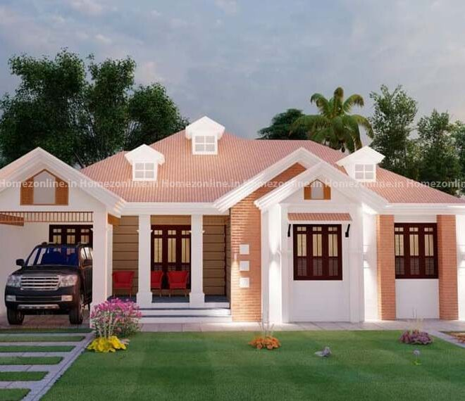Awesome simplex home with slope roofing