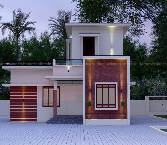 Marvelous 2 bhk small home design