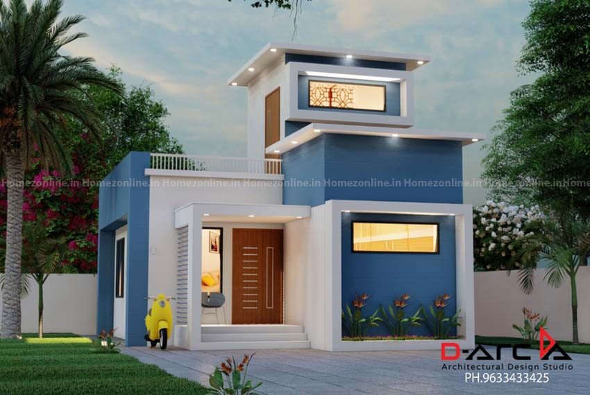 Outstanding box style simplex home